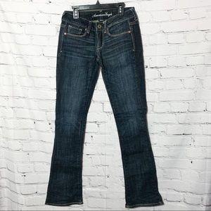 American Eagle Skinny Kick Stretch Dark Wash Jeans